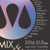 MIX JUICE FESTIVAL 10月8日(土) HYWOD HEART FILMS TOMBOY maddoc