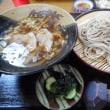 「江戸家(えどや)」、太白区長町のそば屋で晩酌。盛りだくさんのお通し、肉汁つけそば、野菜天ざるそば