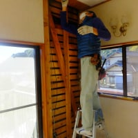 清水区小島で耐震補強工事が始まりました。