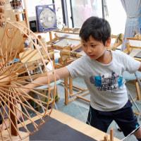 三河木綿の綿から糸を作り機織りをしました