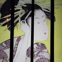 お江戸日本橋でスーパー浮世絵と福徳神社