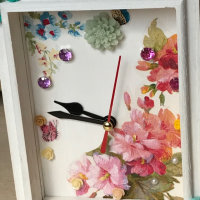 デコパージュの置き時計