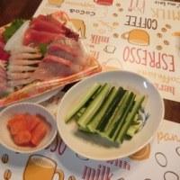 お刺身盛合せde手巻き寿司&ねぎチャーシュー