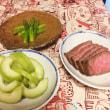 2017年7月20日  レタスサラダ   素麺   さいき家のダシ巻き卵と穴子寿司