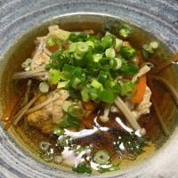 晩ご飯☆鶏つくね団子汁☆