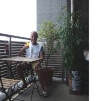 ベランダでもアメリカンスタイル enjoyed outdoor atmosphere at my home balcony