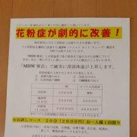 MHW療法で花粉症改善!