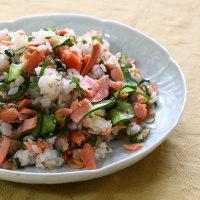鮭ご飯&麻婆茄子ブロッコリー