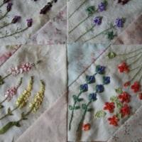 リボン刺繍*四季のお花