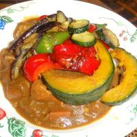 焼き夏野菜のせカレー