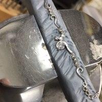 ダイヤモンドを連ねたプラチナネックレスを制作させて頂きました