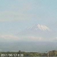 富士山のライブ映像 そのⅡ(2017/06/17_6:39)