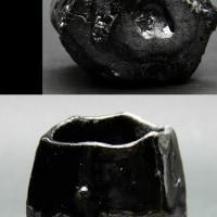 黒炭化ぐい呑 R432