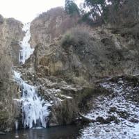 阿蘇_古閑の滝 ~ 2017年2月15日 の結氷状況 です