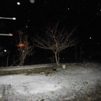 平成29年2月21日・午前02:00前の様子は雪が降る時間です!