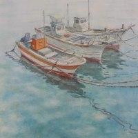絵「春の海」