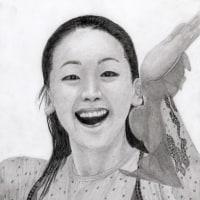 浅田真央(フィギィアスケータ)鉛筆画を画く