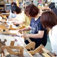 金沢の人 三河木綿の手織り体験でした   竹島クラフトセンター
