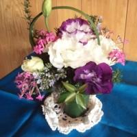 欧風花を習っている知人から、お花を頂きました~~!