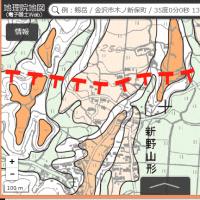 全国の都市圏の活断層の地図。岡山県の奈義町と津山市にまたがる「声ヶ乢断層」の地図