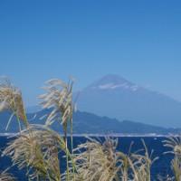 10/15の富士山は爽やかな三保から(ハルチカ撮影地も行ってきたよ)