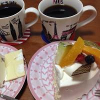 晩御飯とホールケーキ