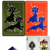 猫のヴィンテージ・トランプ(ダブルデック)9