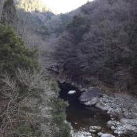面河渓関門の様子(1月4日)