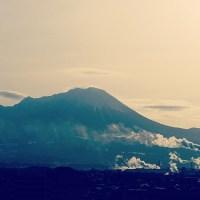 今朝の大山