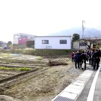 山本地方創生大臣の韮崎市大村美術館と蛍雪寮視察