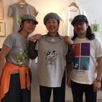 黒須俊一郎さん イラストTシャツカフェの個展🐈💙 カフェスローで開催!