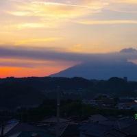 2017年5月28日、朝の桜島