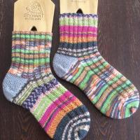 手編み靴下 作品NO.138
