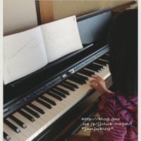 娘、ピアノを始める