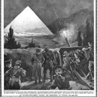 第一次大戦で、イタリアが三国同盟を締結していたドイツに宣戦布告。
