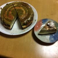 抹茶 ゼブラケーキ