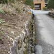 参道の石垣工事を行っています