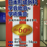 日本形成外科学会の総会に