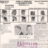 有名な犯罪ジョン・ディリンジャーが撃ち殺された。