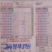 今日のゴルフ挑戦記(80)/新千葉CC「たちばな」イン→アウト(コーライ)