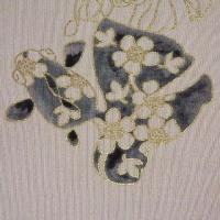 金魚の柄の名古屋帯制作1