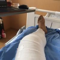 前十字靭帯再建日記-受傷33日目-リハビリ開始