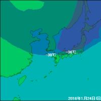 今回の寒気(2017年1月14日、15日)