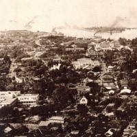 ホノル々 古の市街全景風景 大正13年頃