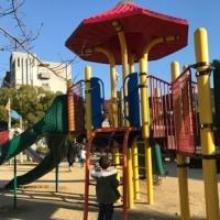 初めてあんばと二人での公園遊び