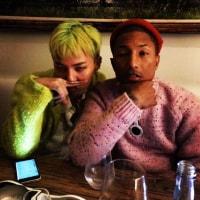 【韓流&K-POPニュース】G-DRAGON ファレル・ウィリアムスとのムードある写真を公開・・