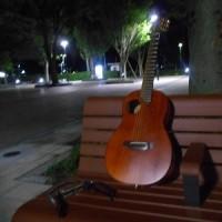 アーバン広場で夜間練習