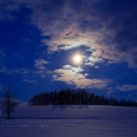 静かな夕暮れ、静かな月明かり