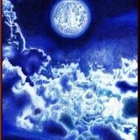 色鉛筆画307 (月夜)