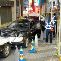大阪・心斎橋で車暴走、パトカーに衝突買い物客ら騒然